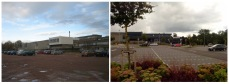 Before and After: Mixed flowering shrubs and herbaceous with Acer Campestre in the car park beds