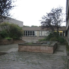 Water feature in the original courtyard space