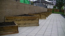 Raised Timber Community Planters